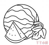 大西瓜简笔画怎么画 西瓜的画法教程