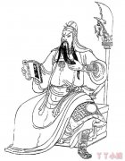 三国英雄人物关羽简笔画怎么画手绘教程图解
