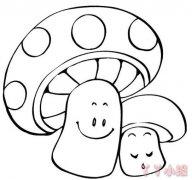 怎么画卡通小蘑菇简笔画图片 蘑菇的画法图解