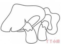 蘑菇的画法步骤图简单 蘑菇简笔画图片