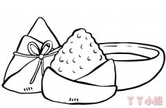 端午粽子怎么画简单又好看 粽子简笔画图片