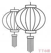 灯笼怎么画灯笼的画法教程 灯笼简笔画