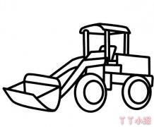 卡通铲车怎么画简单 幼儿园铲车简笔画图片