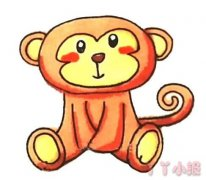 可爱小猴子怎么画涂色 猴子简笔画图片