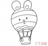 小兔子热气球怎么画 热气球简笔画图片