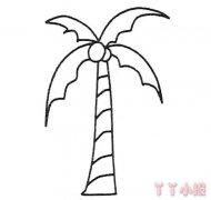 简笔画椰子树怎么画简单又漂亮图解