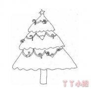 怎么画圣诞树简笔画图片教程简单又漂亮