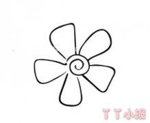 6款花瓣小花朵简笔画怎么画简单又漂亮