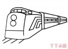 复兴号高铁动车简笔画怎么画简单又漂亮