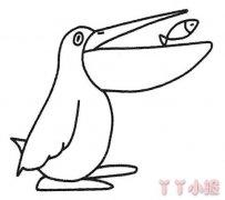 如何画卡通鹈鹕简笔画步骤教程简单好看