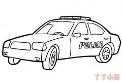 警车怎么画简单又好看 警车简笔画教程