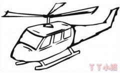 卡通直升机怎么画简单好看 直升机简笔画