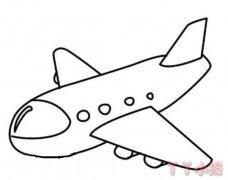 卡通客机飞机怎么画简单又好看飞机简笔画