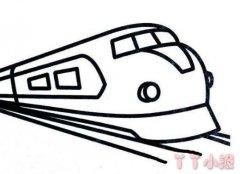 飞驰的动车高铁怎么画简单好看火车简笔画