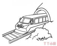 卡通火车怎么画简单 动车火车简笔画图片
