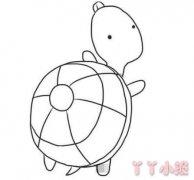 乌龟怎么画涂色 卡通小乌龟简笔画图片