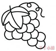 卡通葡萄简笔画怎么画涂色简单好看