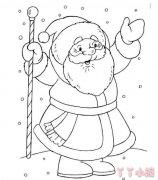 圣诞老人简笔画涂色教程简单又好看