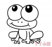 可爱小青蛙简笔画涂色教程简单又好看