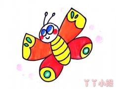 蝴蝶怎么画涂颜色简单好看蝴蝶简笔画图片