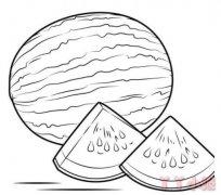 手绘西瓜的画法图解好看 西瓜简笔画图片