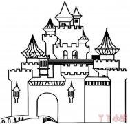 城堡怎么画简单又好看 城堡简笔画教程