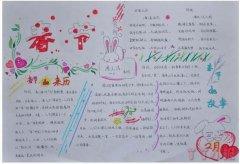 传统节日春节快乐手抄报怎么画简单好看