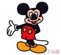 卡通米老鼠简笔画 彩色米老鼠怎么画