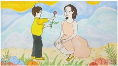 感恩母亲节简笔画怎么画带步骤涂颜色漂亮