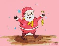 怎么画圣诞爷爷简笔画步骤简单好看上色