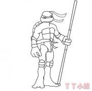 卡通忍者神龟怎么画 忍者神龟简笔画图片