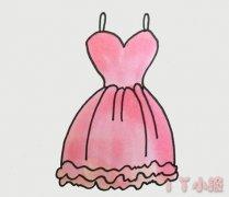 粉色公主裙怎么画简单又漂亮裙子简笔画图片