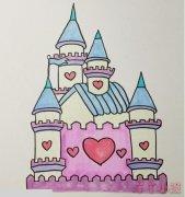 怎么画迪士尼城堡简笔画法步骤教程涂色