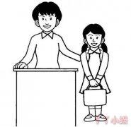 老师简笔画怎么画好看教师节简笔画图片