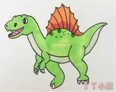 恐龙简笔画涂色 卡通恐龙怎么画带步骤