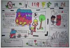 一年级消防安全119手抄报模板图片简单又漂亮