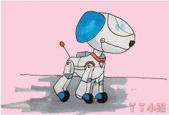 汪汪队机器狗的画法步骤教程涂颜色简单