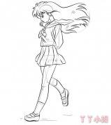 卡通美少女战士的画法步骤教程手绘漂亮