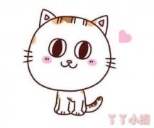 三年级小猫咪简笔画怎么画涂色简单步骤