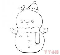 教你怎么画可爱小雪人简笔画教程简单