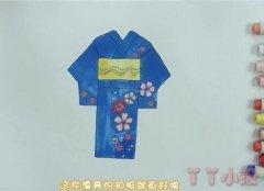 一步一步画日本和服简笔画涂色简单漂亮