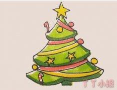 教你怎么画圣诞树简笔画步骤教程涂颜色
