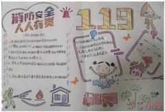 小学生消防安全手抄报内容及图片二年级