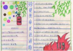 消防安全手抄报简笔画怎么画简单又漂亮二年级