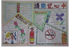一年级消防安全手抄报模板怎么画简单又漂亮