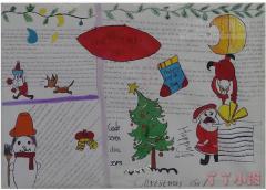 圣诞快乐英语手抄报简笔画怎么画简单又漂亮