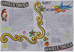 圣诞节快乐英文手抄报内容及图片二年级