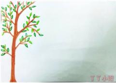 一个棵树的贡献手抄报版面设计图模板简单漂亮
