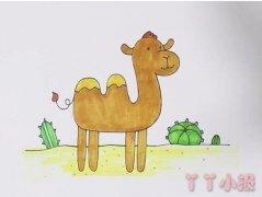 教你怎么画骆驼简笔画步骤教程涂颜色