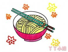 教你怎么画一碗面条简笔画教程简单易学